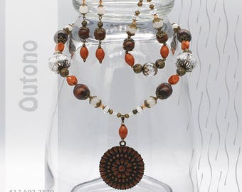Jewelry Set   Necklace, Bracelet, Earrings   Outono PG40230825