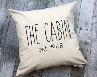 Cabin Pillow Etsy