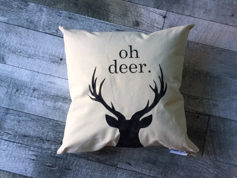 oh deer Pillow Cover image 0
