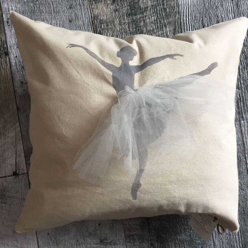 Ballerina with White Skirt Pillow Cover image 0