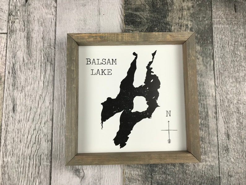 Balsam Lake Silhouette Sign image 0