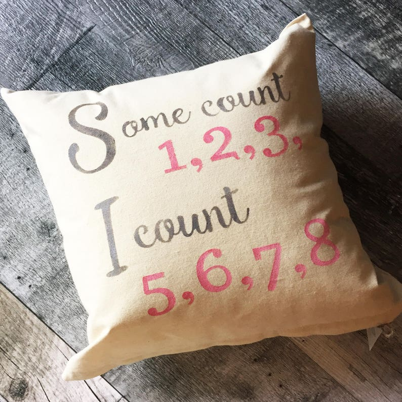 Some Count 123 Pillow Cover image 0