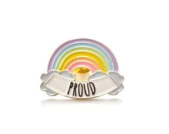 Proud LGBT Rainbow // Soft Enamel Pin