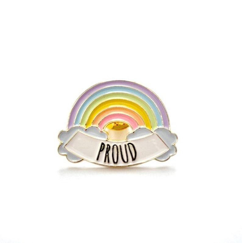 Proud LGBT Rainbow // Soft Enamel Pin image 0