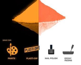 Pigment Powder Glow In The Dark | Long Lasting Craft Pigment Powder 1oz Pack | Prisma65 Orange Glow In The Dark by VViViD