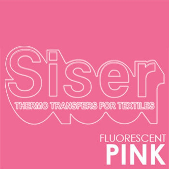 SISER Iron On Letter Heat Transfer Vinyl Roll | HTV Transfer Paper Easyweed  Letter Sticker | Fluo Pink Iron On Transfer Stretch Vinyl Roll