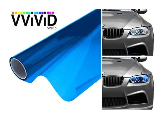 Vinyl Wrap Adhesive Car Decal | Blue Headlight Tint | Window Film Adhesive  Vinyl Decal For Car | Craft & Auto Tint Sticker | XPO VViViD