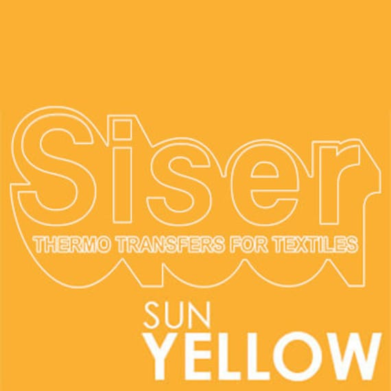 SISER Iron On Letter Heat Transfer Vinyl Roll | HTV Transfer Paper Easyweed  Letter Sticker | Sun Yellow Iron On Transfer Stretch Vinyl Roll