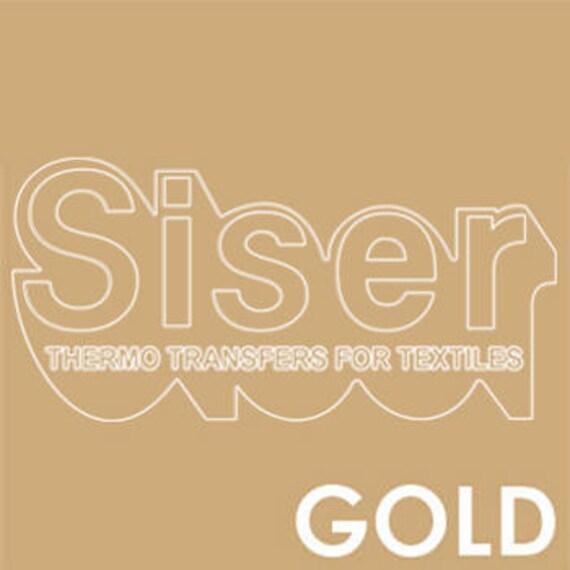 SISER Iron On Letter Heat Transfer Vinyl Roll | HTV Transfer Paper Easyweed  Letter Sticker | Gold Iron On Transfer Stretch Vinyl Roll