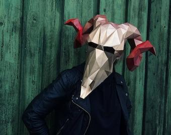 ram skull mask etsy