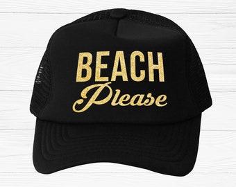 Beach Please Trucker Hat 554ad1c2640