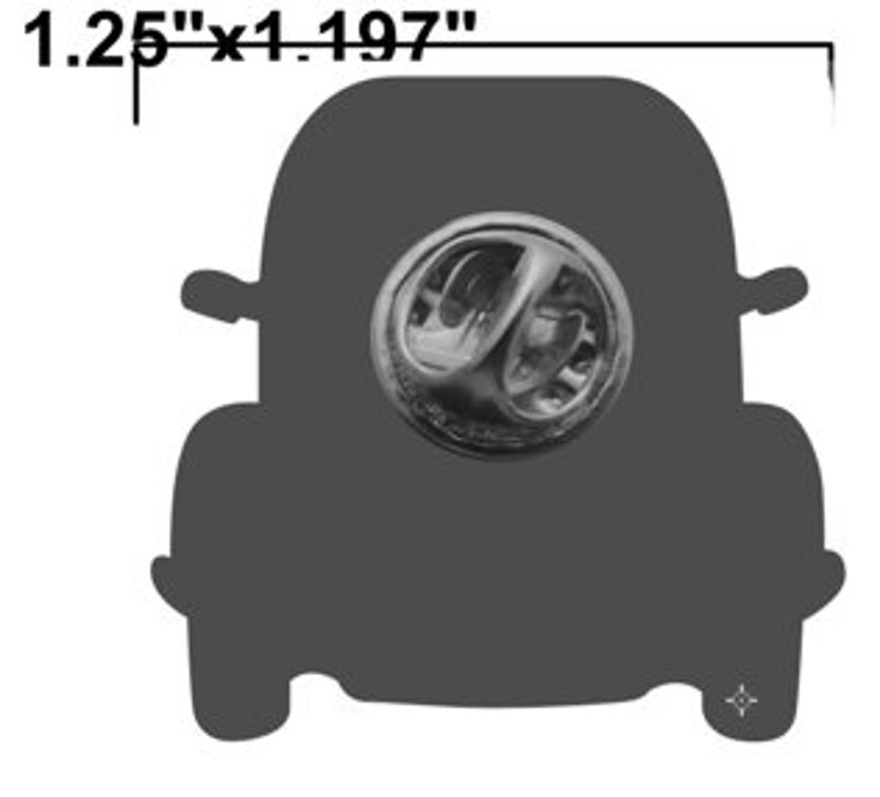 Designated driver VW Beetle lapel pin image 4