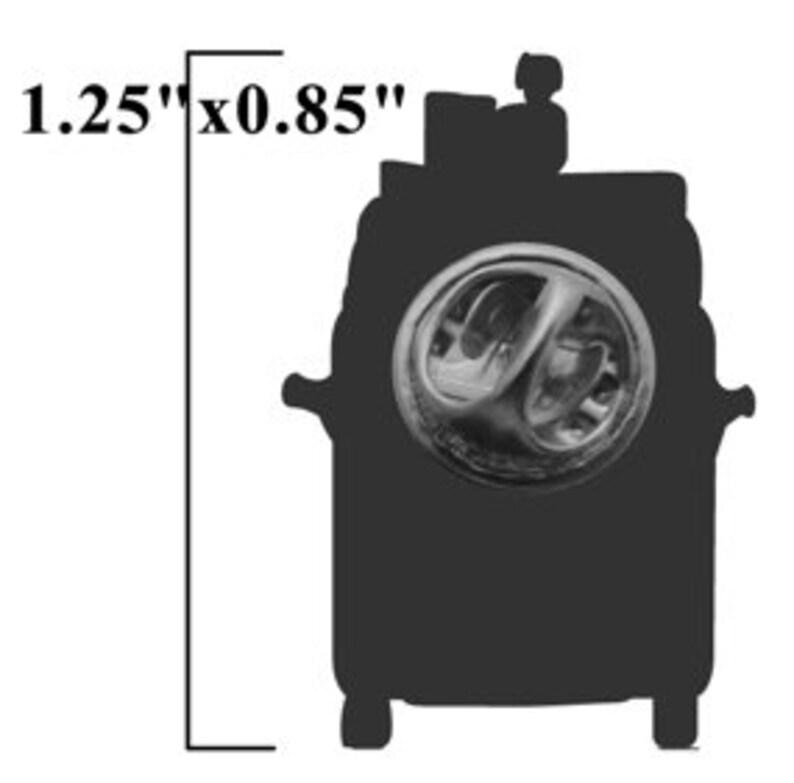 Hipster VW Kombi lapel pin image 2