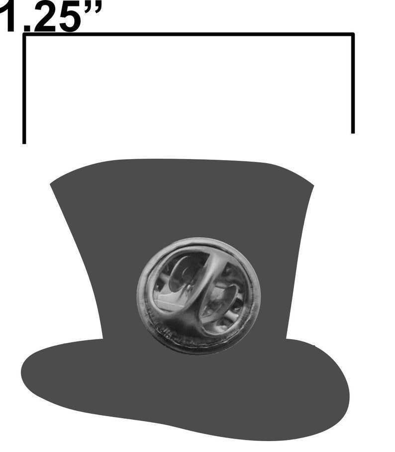 Bonkers mad hatter Alice lapel pin image 3