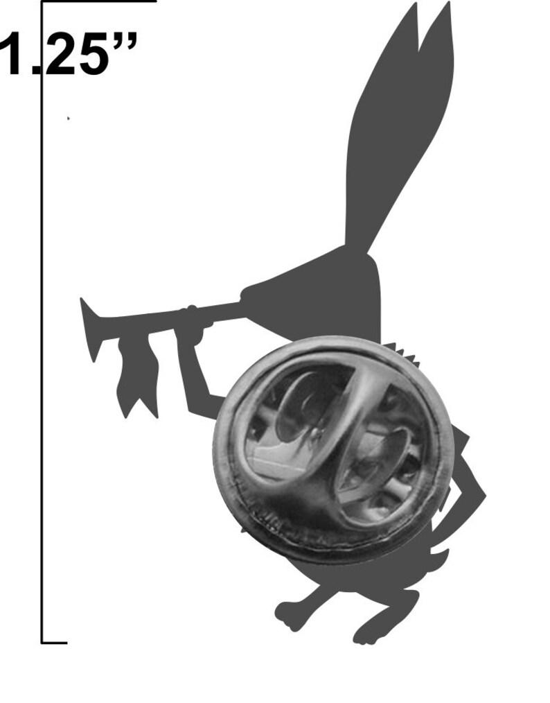Alice white rabbit lapel pin image 3