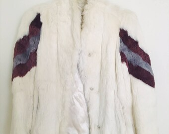 Vintage White Rabbit Coat- Rare