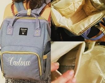 Diaper Backpack, Diaper Bag, Bottle Backpack, Monogrammed, Baby Backpack, Baby Bag