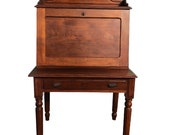 Antique Victorian Walnut Apothecary Drop Front Secretary Writing Desk