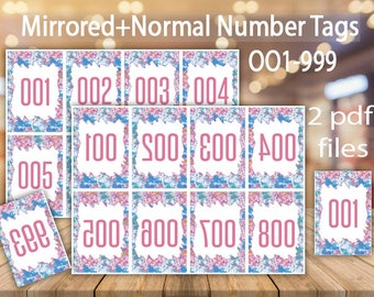 Facebook Live Sale, Live Sale Numbers, Number Cards, Facebook Live, Normal+Reverse Numbers, Mirror Numbers, Normal Tags. Numbers 001 - 999