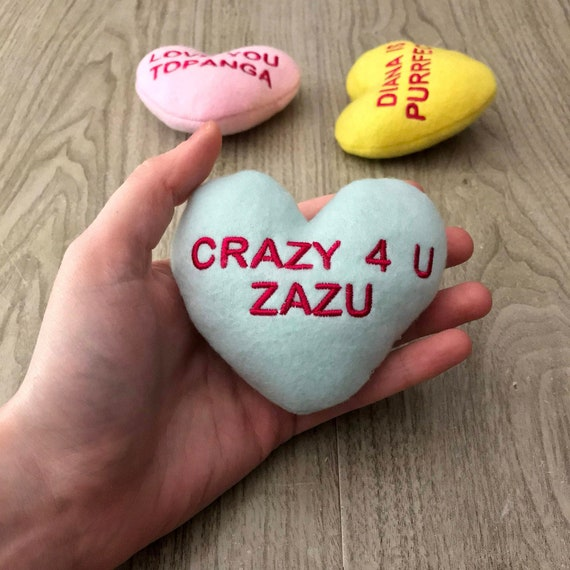 Personalized Heart Catnip Toy