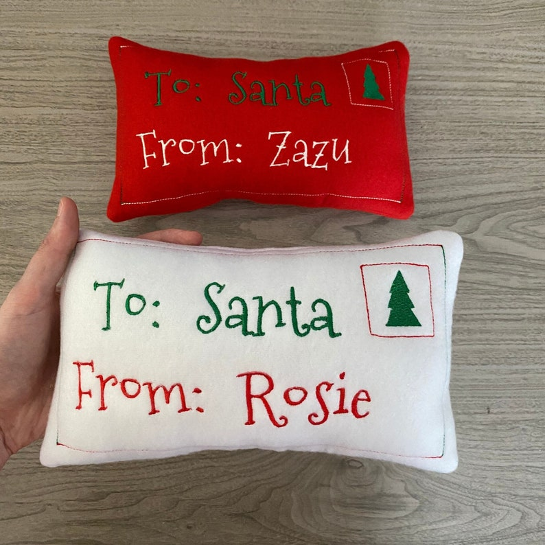 Letter Personalized Dog Toy Christmas Letter To Santa Squeaker image 0
