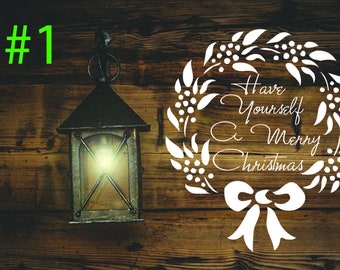 Merry Christmas Decal - 3 to choose from / Single-Use Stencil // Window Decal // Wall Decal // Craft Stencils // CQD0100_2