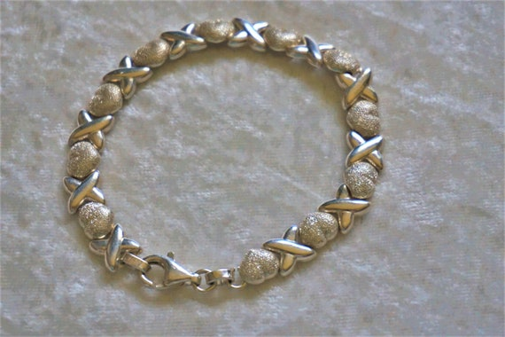 Vintage Italian sterling bracelet ...free shipping !!