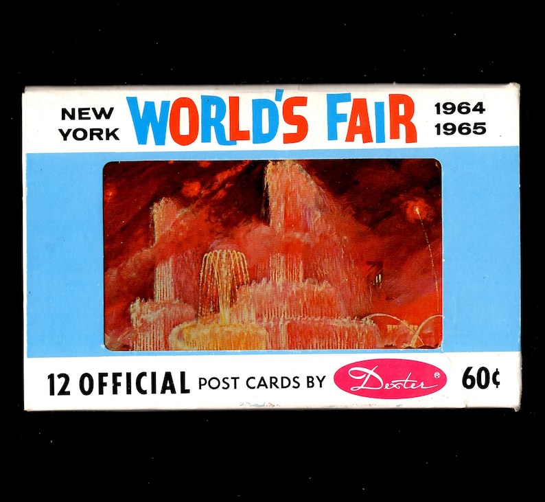 Vintage Worlds Fair Postcard Unopened Pack Of 12 Same Day Free Shipping Unique Collectible Cards Memorabilia Rare Find Gift For Her Or Him