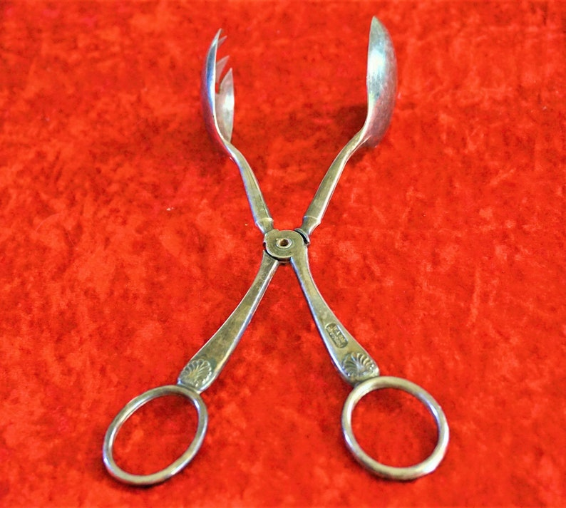 Italy Silver Plated Salad Tongs Or Him Vintage W.A Same Day Free Shipping Rare Find Tableware Unique Hallmarked Collectible Gift For Her