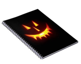 Jack-o-Lantern Spiral Journal, Writing Notebook