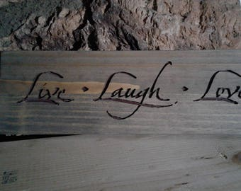 Live-Laugh-Love Rustic - Wood Carve Sign