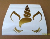 Unicorn face vinyl decal/ DIY decal for walls/ Magical unicorn vinyl wall sticker/ Unicorn wall decor
