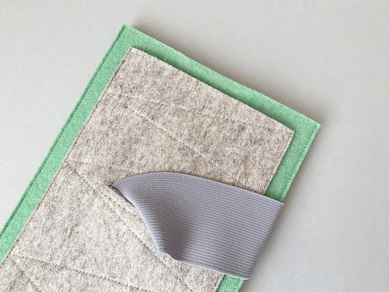 pure new wool felt insulating tablet case shock-absorbing water-repellent custom size iPad Mini sleeve seaspray pocket extra pocket