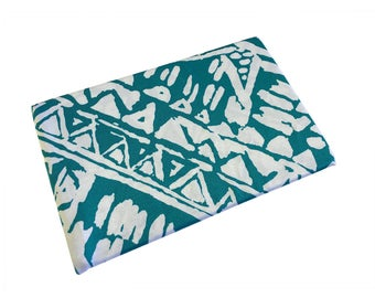 Green Blockprint TightJacket - Tablet Sleeve