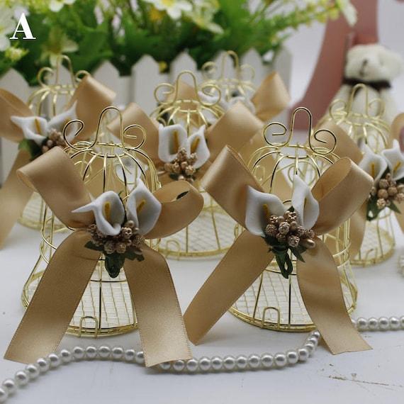 Golden Wire Bell Wedding Favor Box Wedding Favor Idea Wedding Etsy