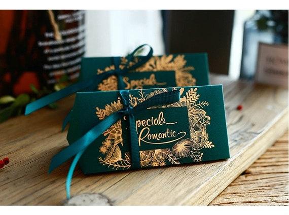Hochzeit Sweet Box Mit Band Gold Stempeln Hochzeitsgeschenke Etsy