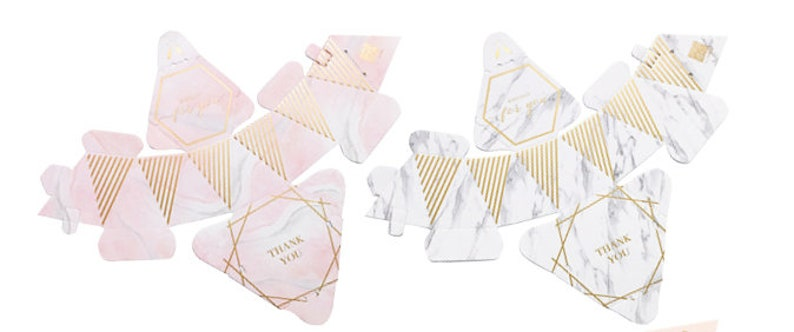 Birthday,Candy Box,Chocolate Box,FREE Name Place Card B037 50pcs Marble /& Bronzing Wedding Favor Boxes For Guest,In Bulk Wedding Gift Boxes
