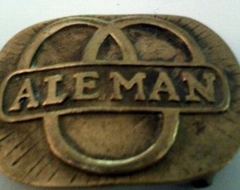 Belt Buckle Vintage Resin Wall decor 58x49mm limited stock Made in Germany bjk055
