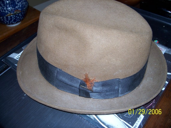 Vintage 1930s-40s Royal Stetson Temple Fedora