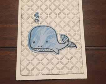 """Whale Hello There """"Just-Because"""" Card"""