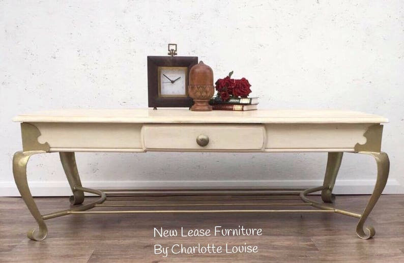 Hand Painted Wooden Coffee Table Upcycled Coffee Table Etsy