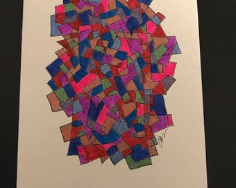 Original Handmade Art Greeting Card