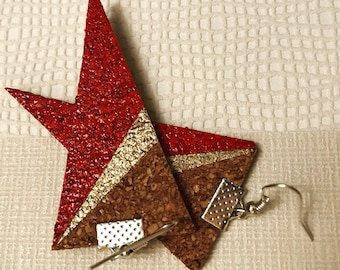 Triangle Cork earrings