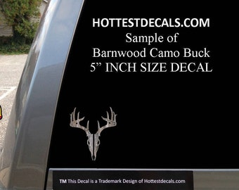 Whitetail Deer Decal Car Sticker 10 point Barnwood Buck Hunter American Hunting Souvenir Gift
