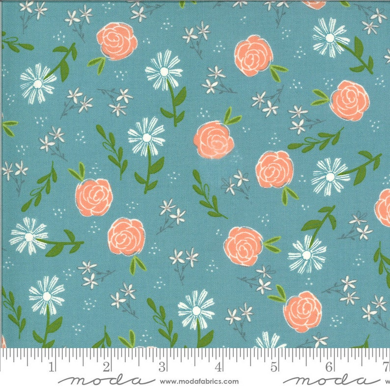 Balboa Wild Rose multiple colors from Moda by Sheri and Chesi -priced by the 12 yard cut in on piece 201068