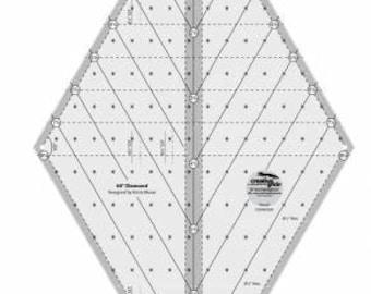 Creative Grids 60 Degree Diamond Ruler # CGR60DIA