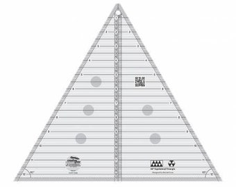 Creative Grids 60 degree Triangle 12-1/2in Quilt Ruler # CGRT12560