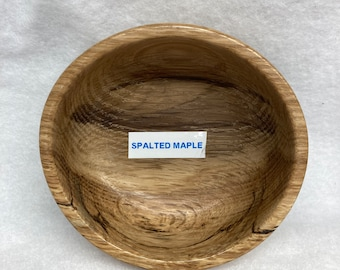 Hand turned magnetic pin bowl-Spalted Maple
