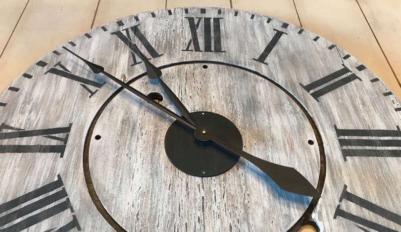 24 Oversized Rustic Farmhouse Wall Clock Large Etsy