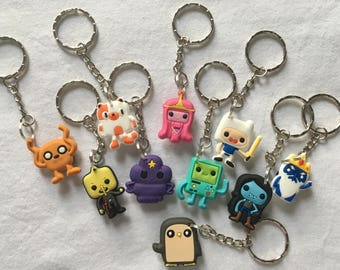Adventure Time Keyrings/Keychains | cartoon cute emo kids goth fun jake finn minec japan kitsch 90s